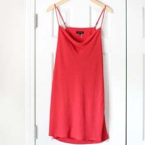 NWT 1. State coral cowl neck slip dress